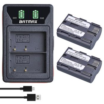 2X BP-511A BP-511 BP 511 511A BP511A סוללה Bateria + LCD כפולה USB מטען עבור Canon G6 G5 G3 G2 g1 EOS 300D 50D 40D 30D 20D 5D