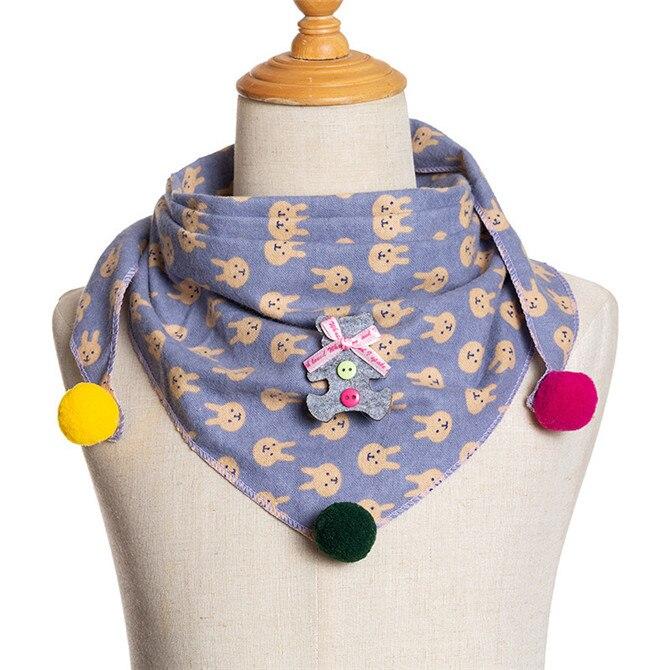 Весенние клетчатые треугольные шарфы в горошек для маленьких девочек; осенне-зимняя шаль для мальчиков и девочек; Детские хлопковые воротники; теплый детский шейный платок - Цвет: C3
