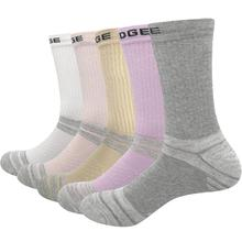 YUEDGE Brand Women Winter Warm Wicking Cotton Outdoor Sports Fashion Cute Casual Crew Socks (3Pairs 5 Pairs/Pack)