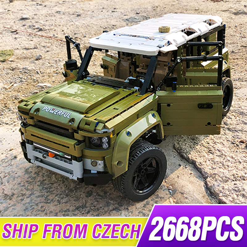 Technic Off-road Vehicle Compatible Lepining 42110 Land Car Rover Defender Assembly Model Building Blocks Bricks Christmas Toys