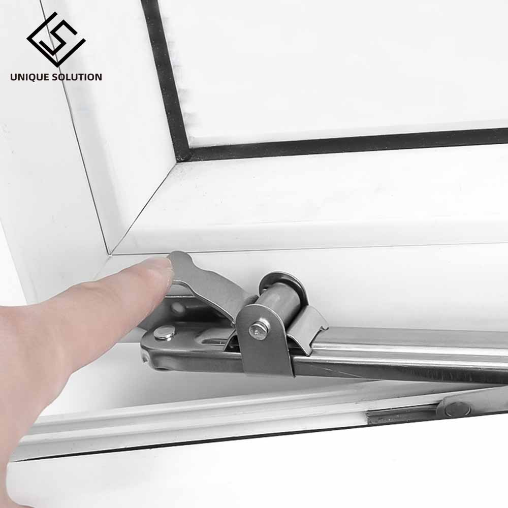 Stainless Steel Telescopic Wind Support Window Limiter Angle Controller Gusset Fixed Sliding Support Door And Window Accessories