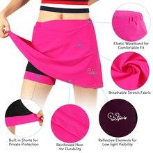 Short de cyclisme 2 en 1 pour femmes, rembourré avec Gel, à séchage rapide, jupe athlétique, S / M / L / XL