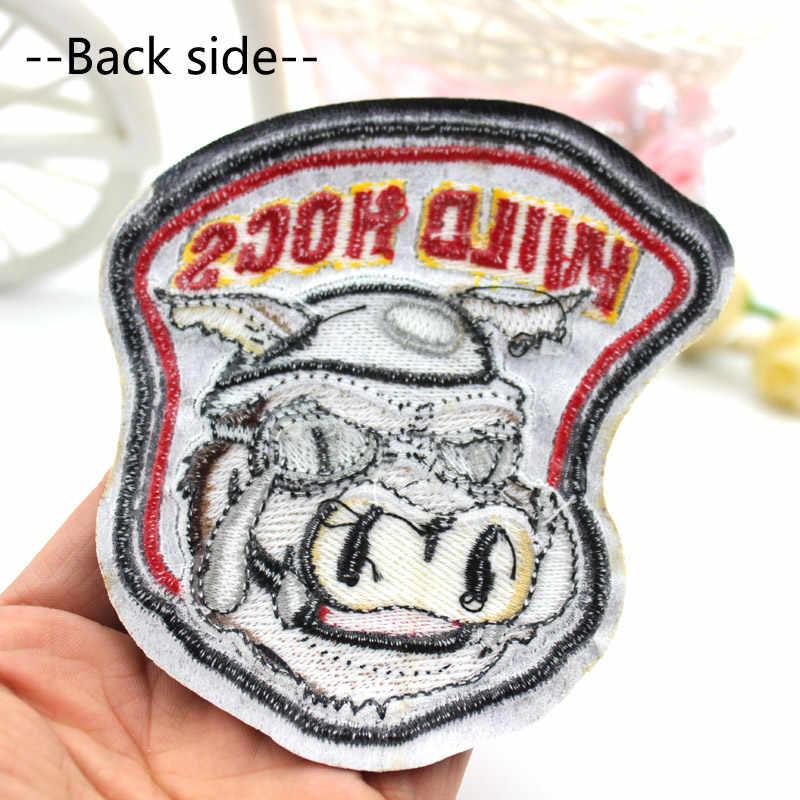 גדול גודל פראי חזירים תיקון רקום ברזל על פאנק בגדי תיקוני בגדי DIY מעיל שקיות תגי מדבקות סיטונאי