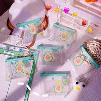 Lindo aguacate transparente Mini monederos monedero de las mujeres titular de la tarjeta de las señoras bolso de mano, monedero bolsa para lápiz labial para niños, bolsa de dinero