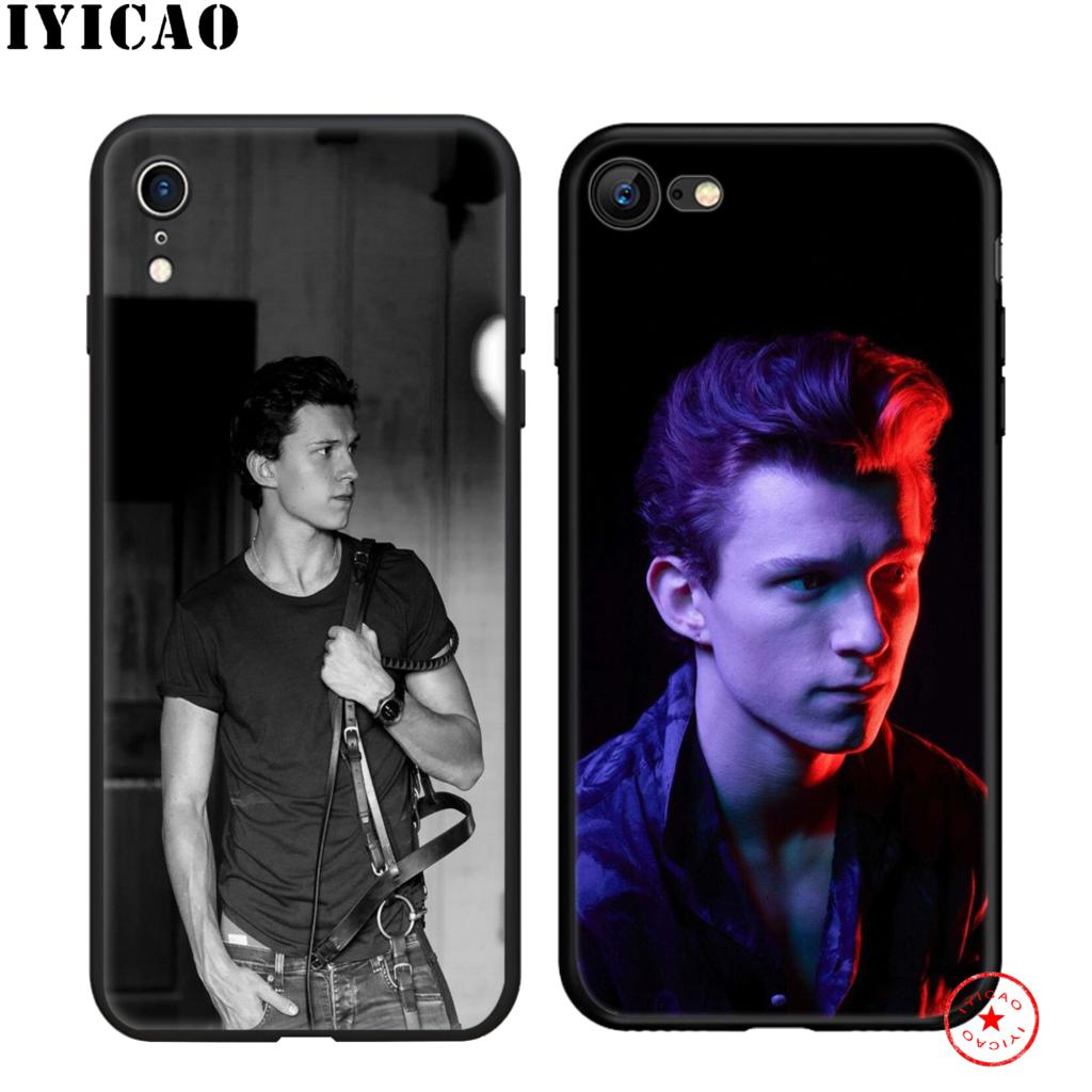 IYICAO Tom Holland Soft Black Silicone Case for iPhone 11 Pro Xr Xs Max X or 10 8 7 6 6S Plus 5 5S SE in Fitted Cases from Cellphones Telecommunications