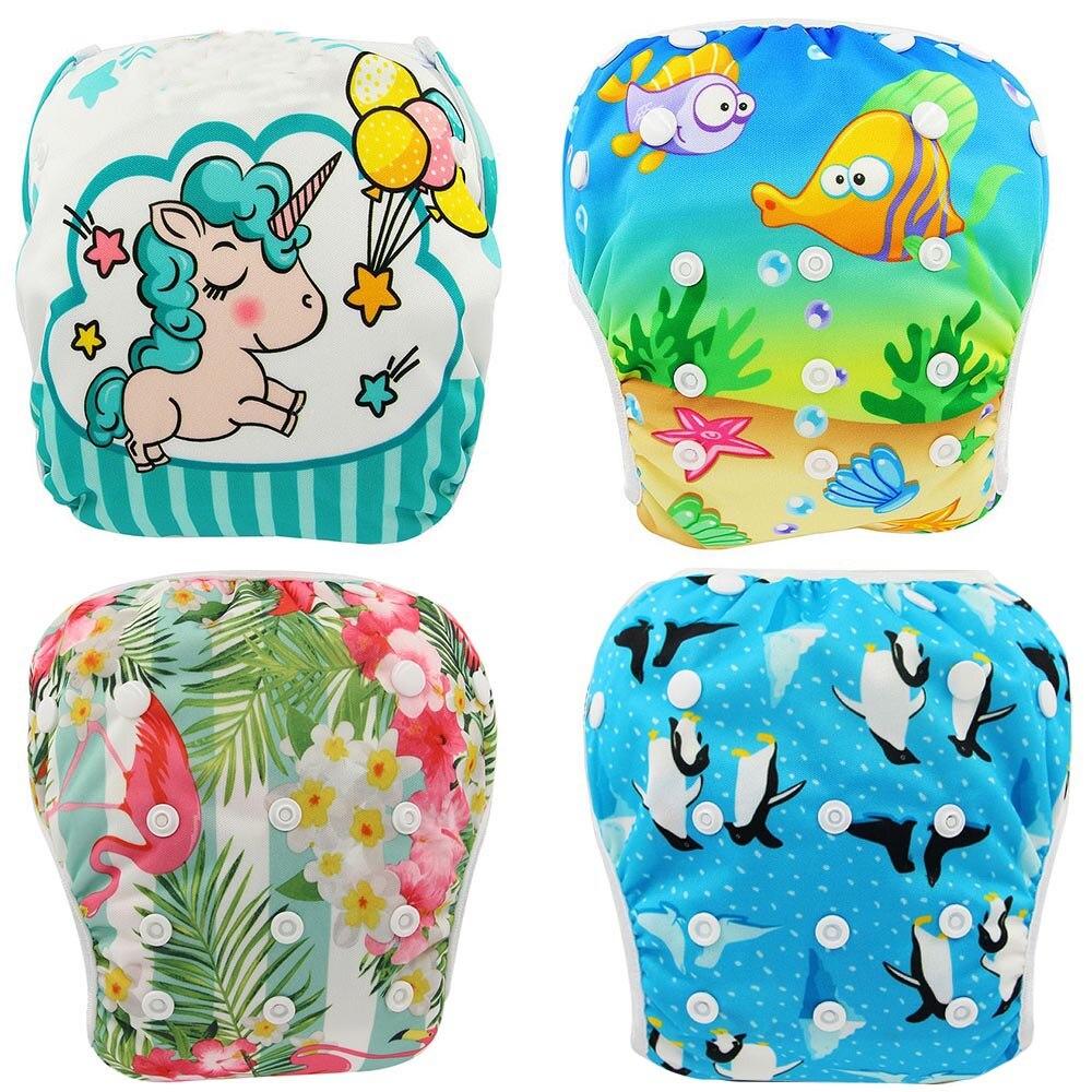 Детские подгузники для плавания Ohbabyka, водонепроницаемые регулируемые тканевые подгузники, штаны для бассейна, купальный подгузник, многоразовый моющийся подгузник