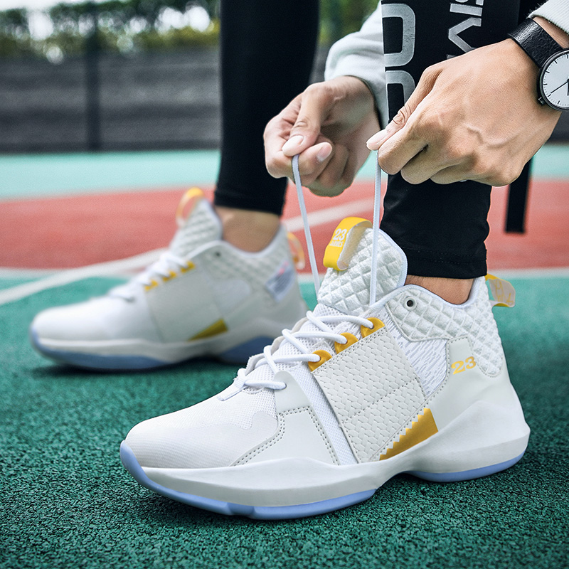 Men's Fashion High Top Basketball Shoes Boys Male Street Basketball Culture Sports Shoes Sneakers Unisex Boots Casual Shoes