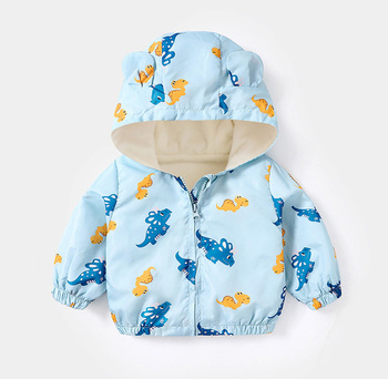 LZH 2020 Autumn Winter Newborn Baby Clothes For Baby Boys Jacket Baby Dinosaur Print Outerwear Coat For Infant Baby Girls Jacket 16
