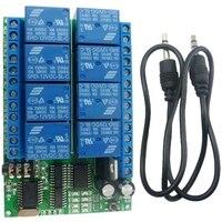 Ad22a08 dc12v 8 canais dtmf relé mt8870 decodificador telefone interruptor de controle remoto