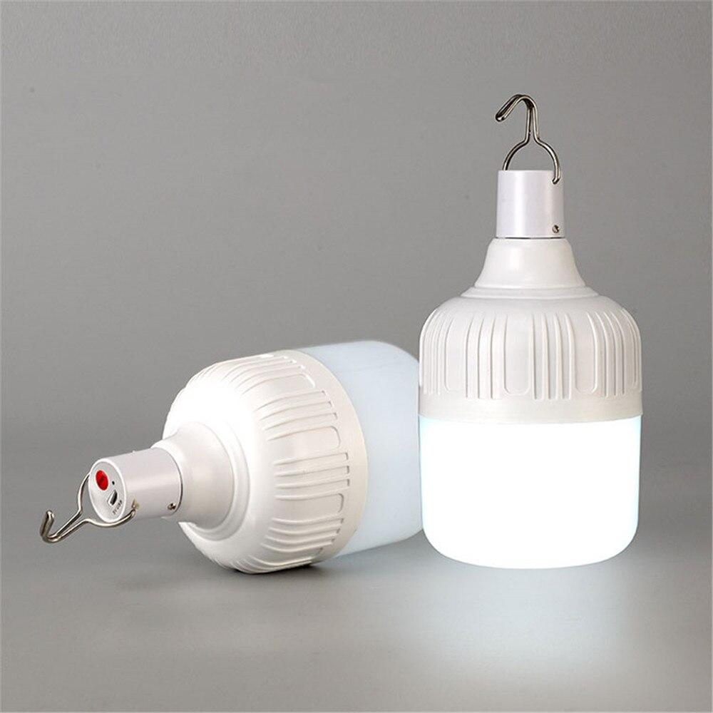 Firya Usb Ricaricabile Luce di Lampadina di Campeggio Esterna 5 Modello Dimmerabile Portatile Lanterne Luci di Emergenza Barbecue Appeso Luce di Notte