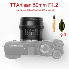 Cameras-Lens M43-Mount-Camera Fujifilm Ttartisan 50mm Sony E Canon M M4/3 Manual Focus-Aps-C