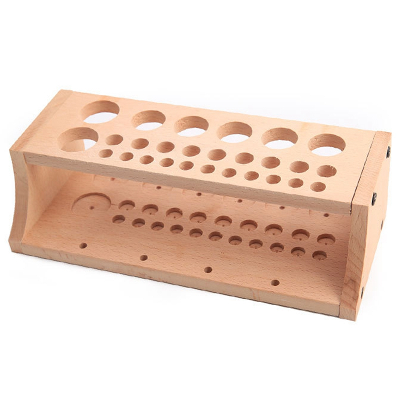 1Set 27 Holes 4 Spool Thread Stand Rack Tool Stamp Stand Beech Rack Leather Holder Diy Storage Holder For Leathercraft Tool Set