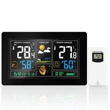 """ארה""""ב/האיחוד האירופי תקע דיגיטלי תחנת מזג אוויר תחזית שעון מקורה מדחום מדדי לחות לחץ תצוגת טמפרטורת לחות מד"""