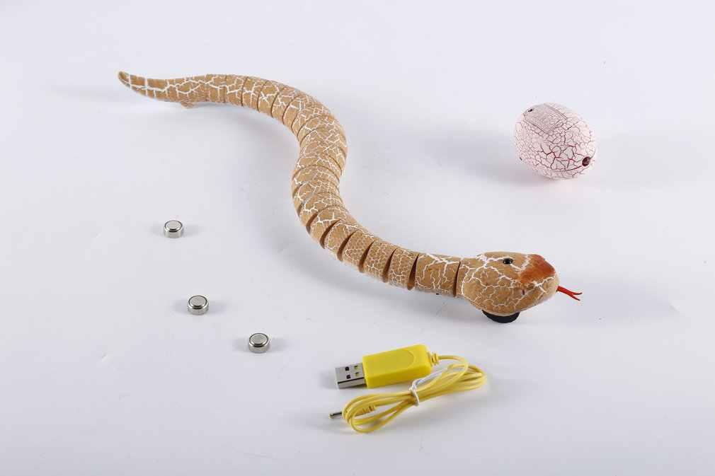 Ocday RC Remote Control Ular Natal Telur Plastik Ular Berbisa Hewan Trik Menakutkan Kerusakan Mainan untuk Anak Lucu Hadiah Baru