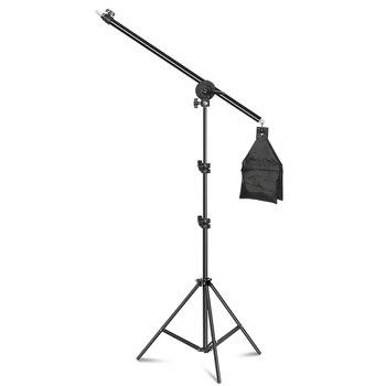 цена на 54inch/137cm Rotatable Aluminum Adjustable Tripod Boom With 2m Light Stand with Sandbag for Studio Photography Video