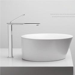 New Arrival Brass Gold White /Matte Black Bathroom single lever hot cold basin faucet Toilet Sink Faucet Water Crane Mixer