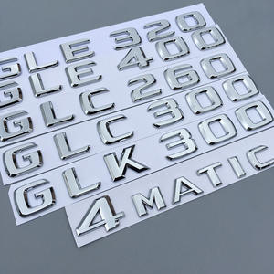 Argento cromato CLA 200 Emblema distintivo di Benz Car Model Numbers Letters Badge per Benz CLA Edition Class AMG C118 C117