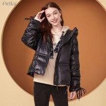 Artka 2020 Новая зимняя Женская куртка на пуху модное повседневное