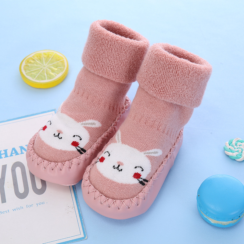 LANSHULAN Baby Floor Socks Winter Cotton Socks Cute Baby Girls Boys Socks Sets Non-slip Children Socks Warm