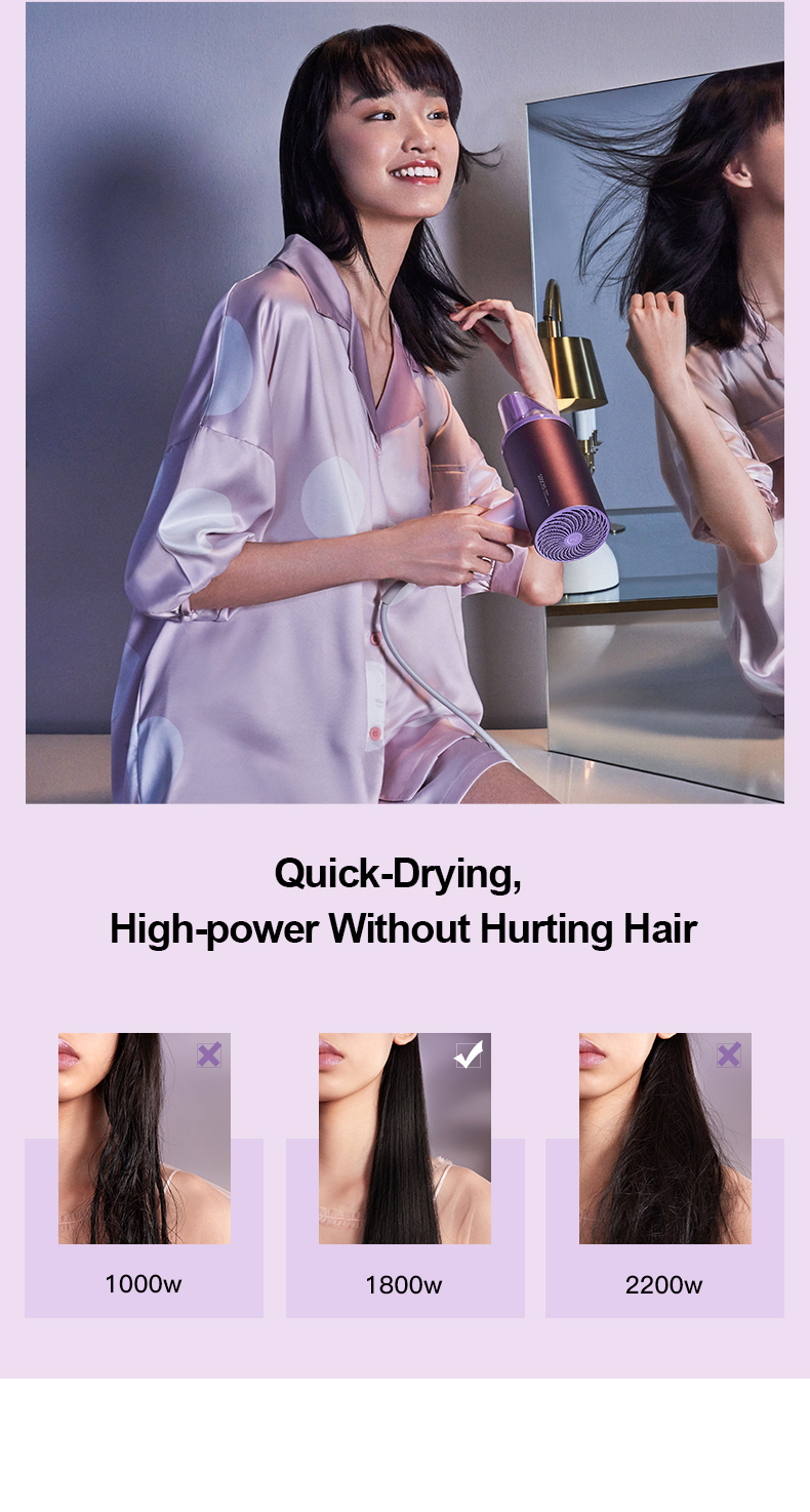 para xiaomi profissional secador de cabelo secagem