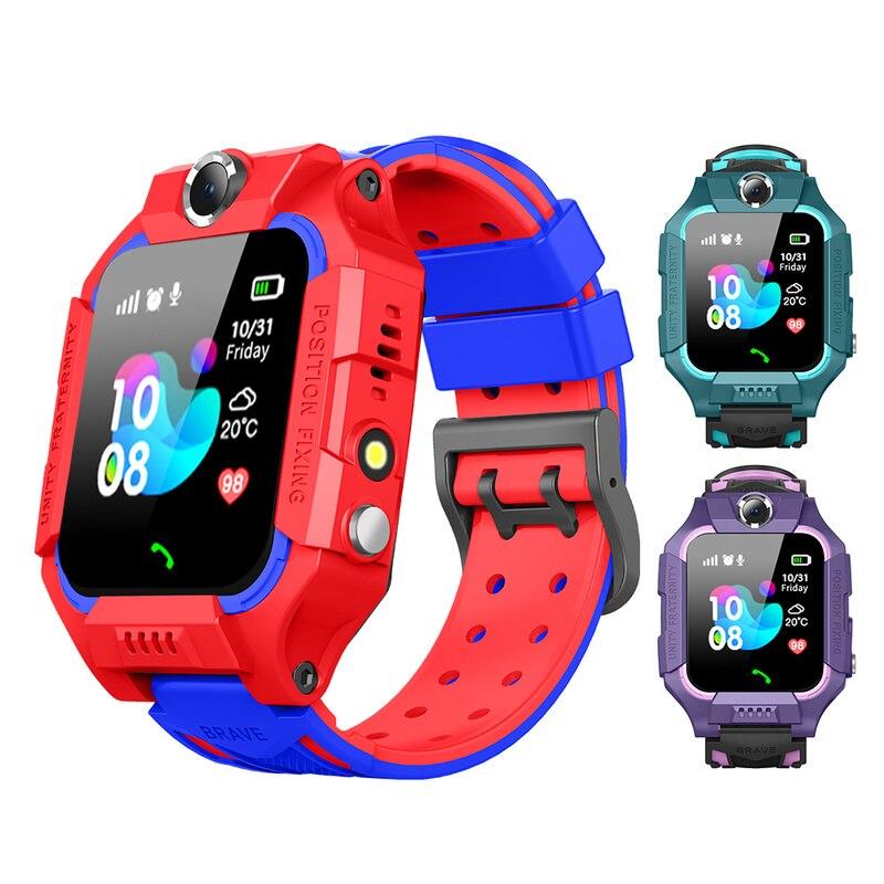 Kids Smart Watch SOS Antil-lost Smartwatch Baby 2G SIM Card Clock Call Location Tracker Child Smartwatch PK Q50 Q90 Q528.