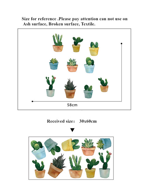 Pot Plant Wall Stickers 10