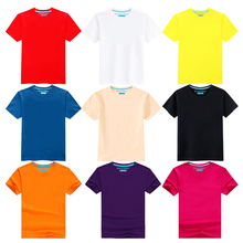 New Fashion Baby Clothes Boys Girls Summer Short Sleeve T Shirt Pure Color Cotton Toddler