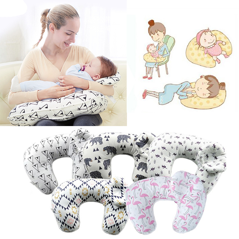 Newborn Nursing Pillows Maternity Baby Breastfeeding Pillow Infant Cuddle U-Shaped Baby Cotton Feeding Waist Cushion Baby Care