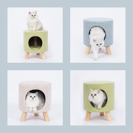 Creative New Style Pet Stool Cat Nest Tripod Cat Villa Small Dogs Poodle Kennel