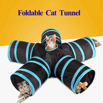 3/4/5 Holes Pet Cat Tunnel Toys Foldable Pet Training Toy for Cat Rabbit Small Dog Funny Interactive Puppy Play Tunnel Tube