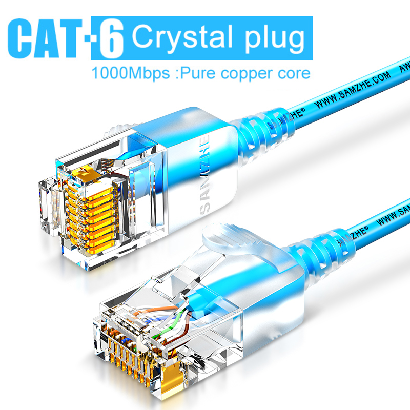 SAMZHE Cat6A Ethernet Cable Ultrafine Cat 6 UTP Ethernet Patch Cable - Slim RJ45 Computer XBox Networking LAN Cords