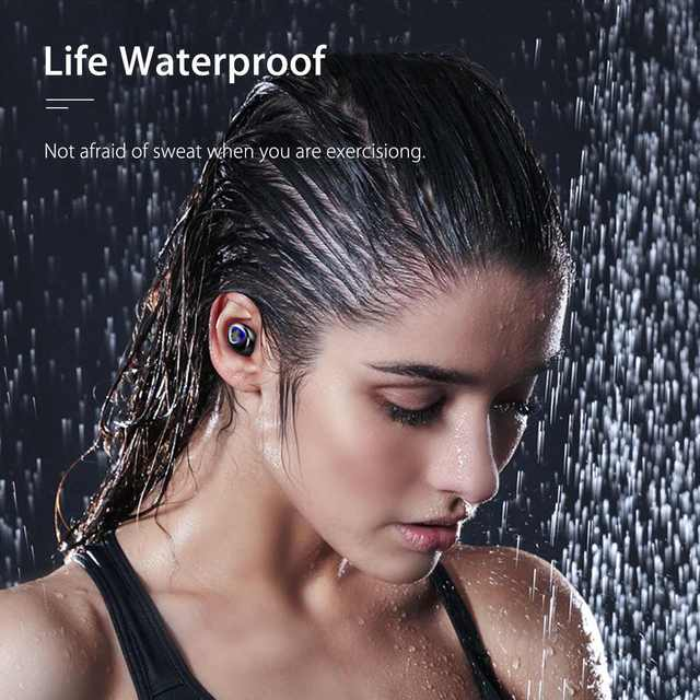 TWS 4000mAh v5.0 bluetooth Stereo Wireless Earphones Waterproof Earbuds With 3 LED Display Sport Wireless Headsets 3