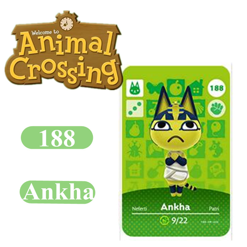 Animal Crossing Card Amiibo 188 Ankha 264 Marshal NFC Card For Nintendo Switch NS Games Series 1 2 3 4