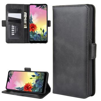Etui na LG K50S skórzany portfel z klapką pokrywa rocznika magnes telefon etui na LG K50S Coque tanie i dobre opinie XZDWH CN (pochodzenie) Etui z klapką Vintage Original Phone Bag Case Zwykły for LG K50S Leather Case High Quality PU Leather