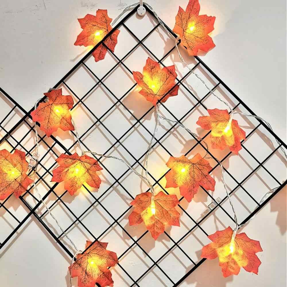 Nuovo Halloween HA CONDOTTO LA Luce Della Stringa di Natale di Caduta di Autunno Foglie di Acero Ghirlanda Luce Ringraziamento Giardino Decorazione Della Festa Nuziale
