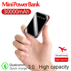 Mini Power Bank 30000mAh Phone Fast Charger USB Charging Portable Charger External Battery Pack for Samsung Xiaomi Iphone
