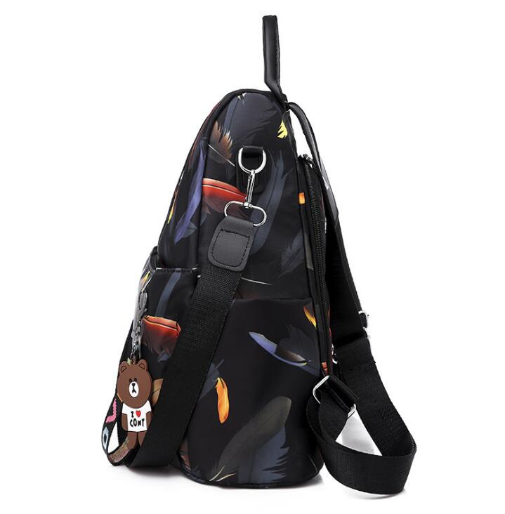 Hc05cfc96a0a14fc19be3a80c5947bfe08 2019 New Women Backpacks Vintage Korea Brand Design Bag Travel Anti Theft Backpack Nylon High Quality Small Rucksack ZZL188
