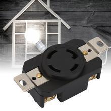 цены NEMA L15-30R 30A 125-250V Industrial 4 Holes Power Socket US Power Socket Plug Wire Connector Household socket