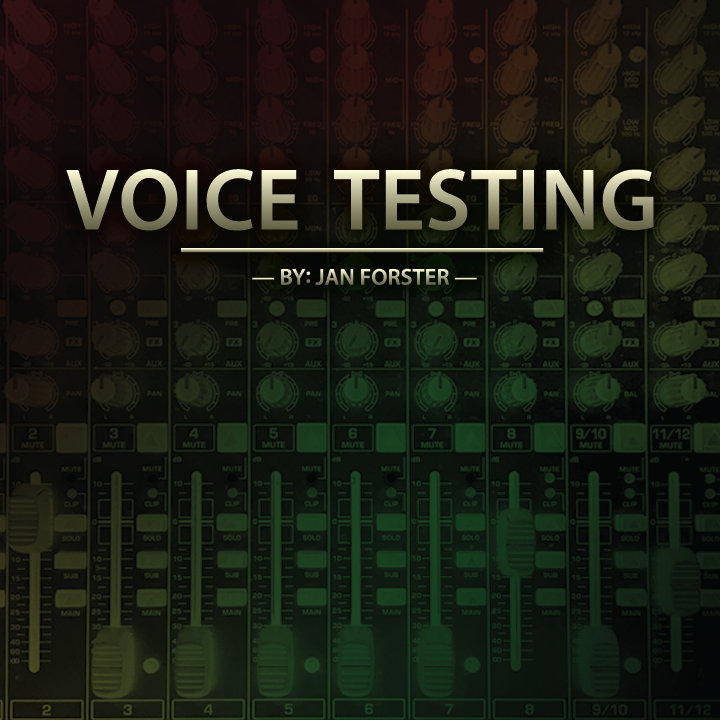 Voice Testing By Jan Forster MAGIC TRICKS~
