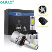 OLPAY H7 H1 LED H4 H8 H9 H11 9005/HB3 9006/HB4 led headlight kit COB Car Headlight Bulbs 72W 8000LM  Fog Light Bulb DC 12v 24v стоимость