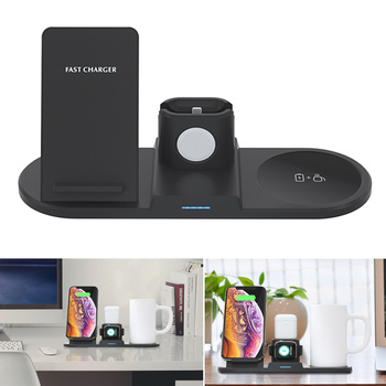 Multifunction Qi Wireless Charger with Intelligent Thermostat Cup for Airpods iPhones Watch C66