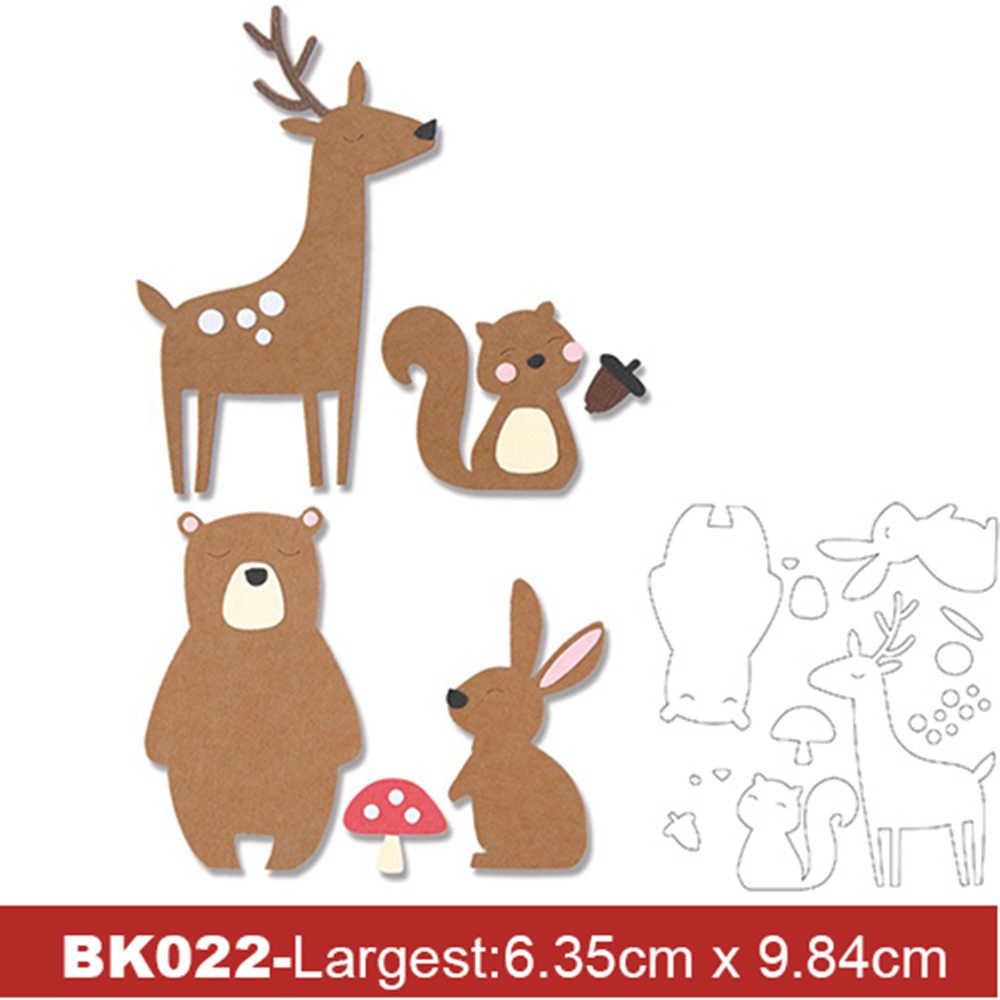 Troqueles de corte de Metal 4 Uds., plantilla de colección de osos y animales, tarjeta de papel para manualidades grabado decorativo, troquelado para manualidades, 2020 nuevo
