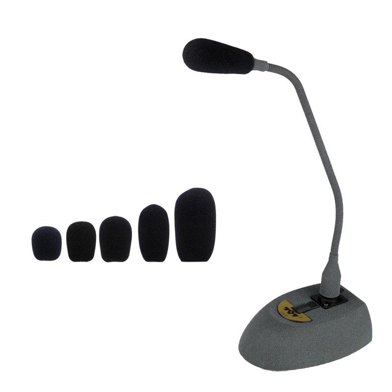 OOTDTY 5PCS Black Microphone Headset Foam Sponge Windscreen Mic Cover