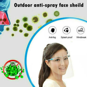 2020 New Full Face Protective Mask Transparent Adjustable Full Face Shield Plastic Anti-fog Protective Cover Plastic Visors