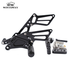 WINTUWAY Motorcycle Foot Rests Aluminum Alloy Rearset Rear Footpeg Suitable For GSX-R600/75011-16