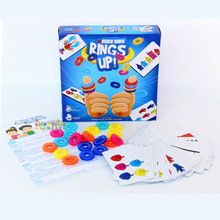 kids floor game RINGS UP Table Eva 3C Ring Set Card Game board color logic for Parents and Children finger hand party