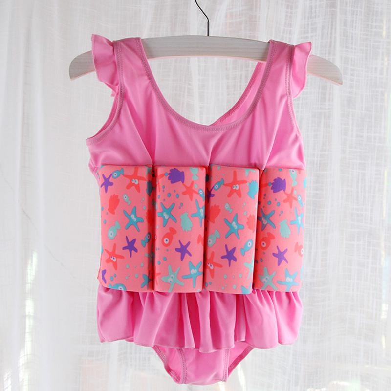 Children Buoyancy Swimwear Girls Baby Girls Bubble Hot Spring Baby Boys One-piece Vest Floating Swimsuit