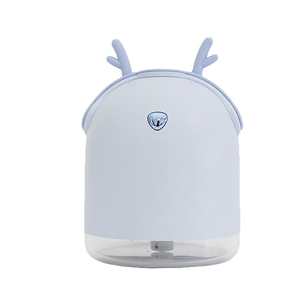 Креативный автомобильный диффузор эфирного масла, мини ультразвуковой увлажнитель, светодиодный, USB аэрозольный генератор для ароматерапии, автомобильный освежитель воздуха - Цвет: Blue