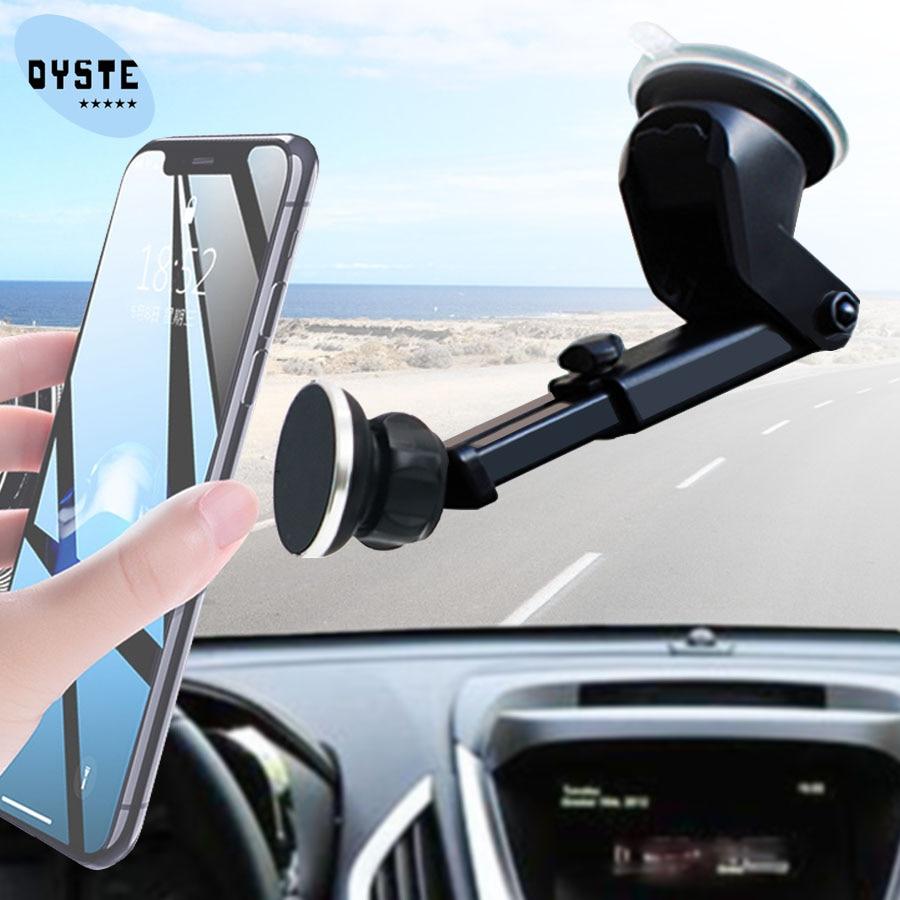 Suporte Porta Celular Windshield Universal Magnetic Telefon Telefoonhouder Auto Mobile Phone Stand Car Holder Smartphone Voiture