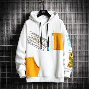 Image 4 - SingleRoad Mens Hoodies Men 2020 Winter Patchwork Hip Hop Japanese Streetwear Harajuku Black Sweatshirt Hoodie Men Sweatshirts